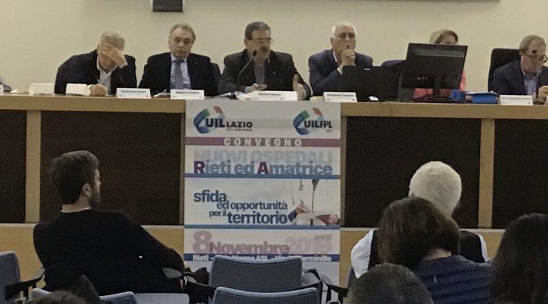 Convegno nuovi ospedali di Rieti e Amatrice